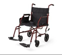 Medline basic wheelchair, transport chair, medline transport chair, com